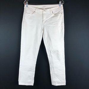 Ann Taylor Loft White Modern Straight Jeans